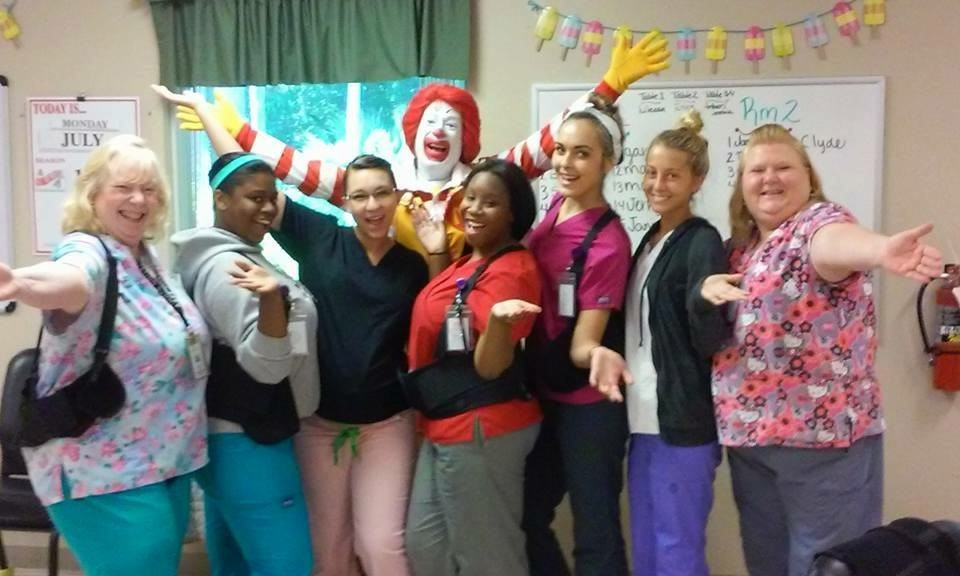 Ronald McDonald Visits Titusville Adult Day Care