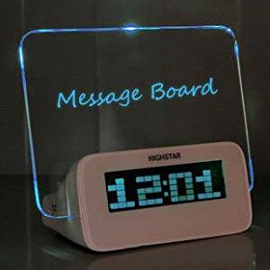 Message board and clock